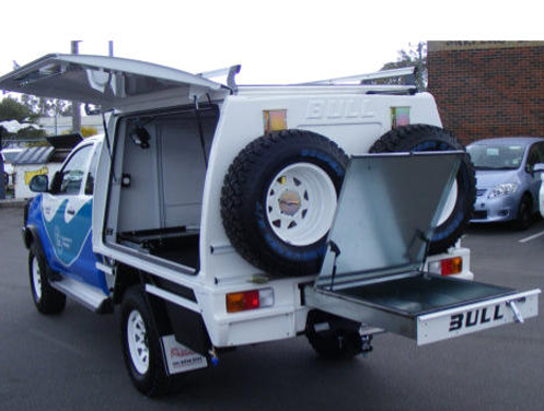 Fisheries Trade Tuff 2 Door Enclosed Canopy & Bull Motor Bodies | Your Ute Your Business Our Passion