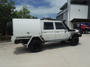 Toyota Landcruiser Dual cab with 2 Door Canopy