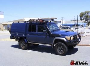 Blue Toyota Landcruiser 1