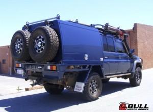 Blue Toyota Landcruiser 2