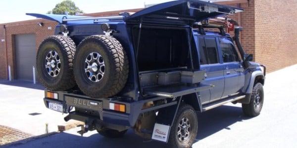 Blue Toyota Landcruiser 5